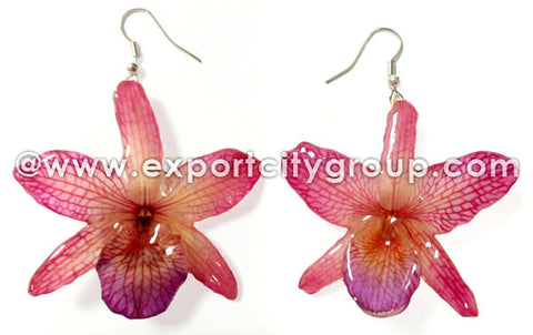 "Nobile ""Dendrobium"" Orchid Jewelry Earring (Pink)"