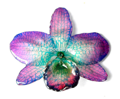"Nobile ""Dendrobium"" Orchid Jewelry Pendant (Purple / Blue)"