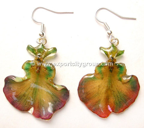 "Oncidium Orchid Jewelry Earring ""Full"" (Purple)"