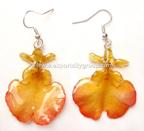 "Oncidium Orchid Jewelry Earring ""Full"" (Yellow)"