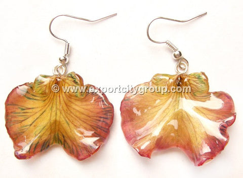 "Oncidium Orchid Jewelry Earring ""Short"" (Purple)"