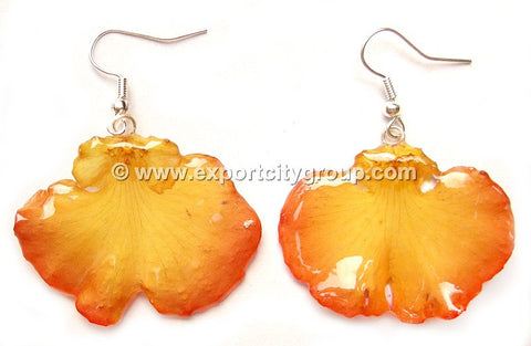 "Oncidium Orchid Jewelry Earring ""Short"" (Yellow)"