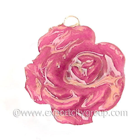 ROSE Real Flower Jewelry Pendant (Pink)
