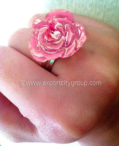 ROSE Real Flower Jewelry Ring (Pink)