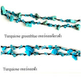 DIY Stone Beads Necklace - Turqiouse Blue (Exclude Flower)