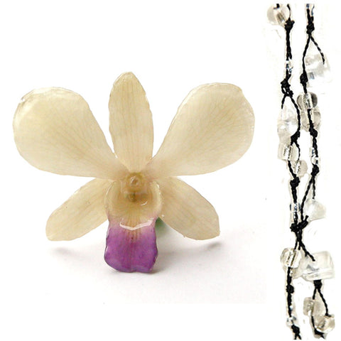 DIY Stone Beads Necklace - Clear Quartz (Exclude Flower)
