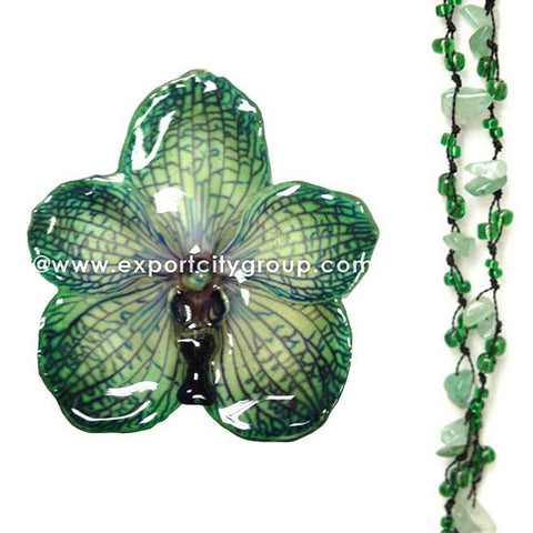 DIY Stone Beads Necklace - Green Aventurine (Exclude Flower)