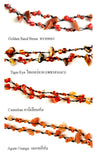 DIY Stone Beads Necklace - Carnelian (Exclude Flower)