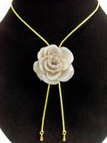 Off White TEA ROSE Real Flower Jewelry 3D ROSE in RESIN PENDANT or LOOSE PIECE