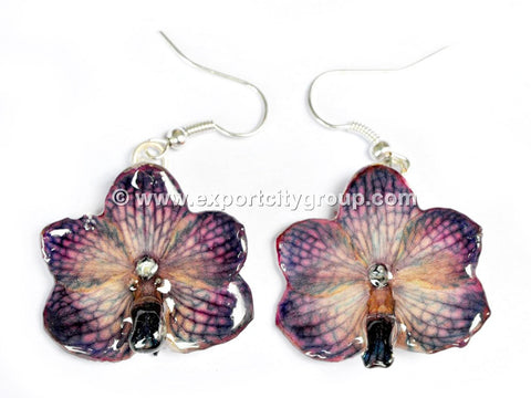 Vanda CANDY Orchid Jewelry Earring (Dark Purple)