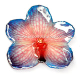 Vanda Orchid Jewelry Pendant (Red/Blue)