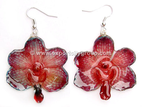 Vanda CANDY Orchid Jewelry Earring (Red 2 Tone)