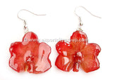 Vanda CANDY Orchid Jewelry Earring (Deep Red)