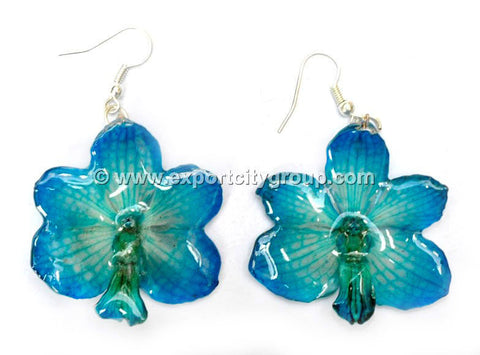 Vanda CANDY Orchid Jewelry Earring (Blue Turquoise)