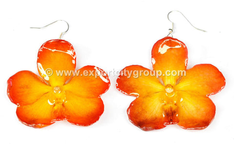 Vanda Orchid Jewelry Earring (Yellow)