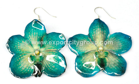 Vanda Orchid Jewelry Earring (Blue Turquoise)