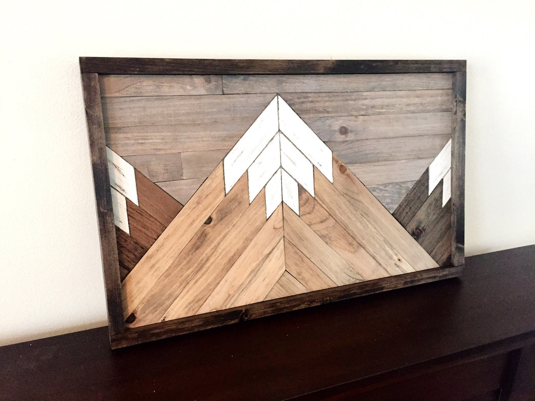 Mountain Range Wooden Wall Art