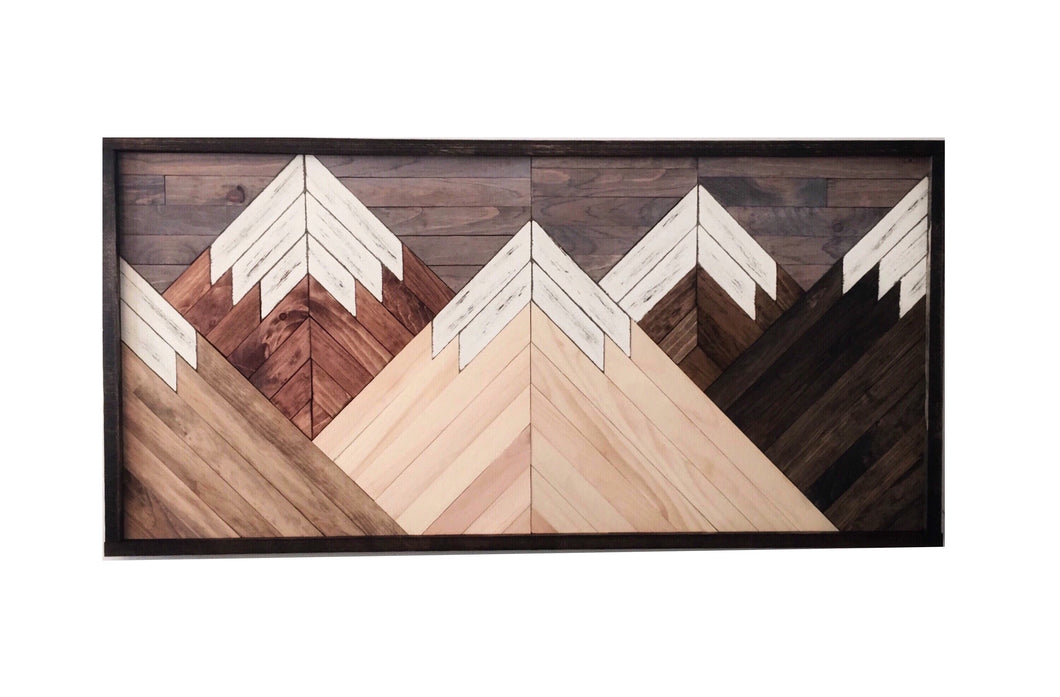 Mountain Range Wood Wall Art Northern Oaks Decor Co