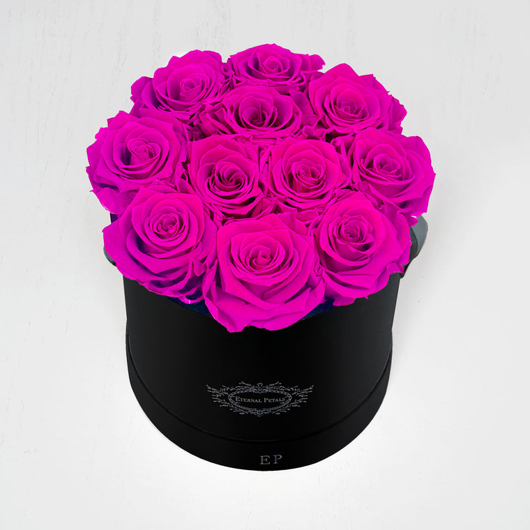 HOT PINK | ROUND BLACK BOX