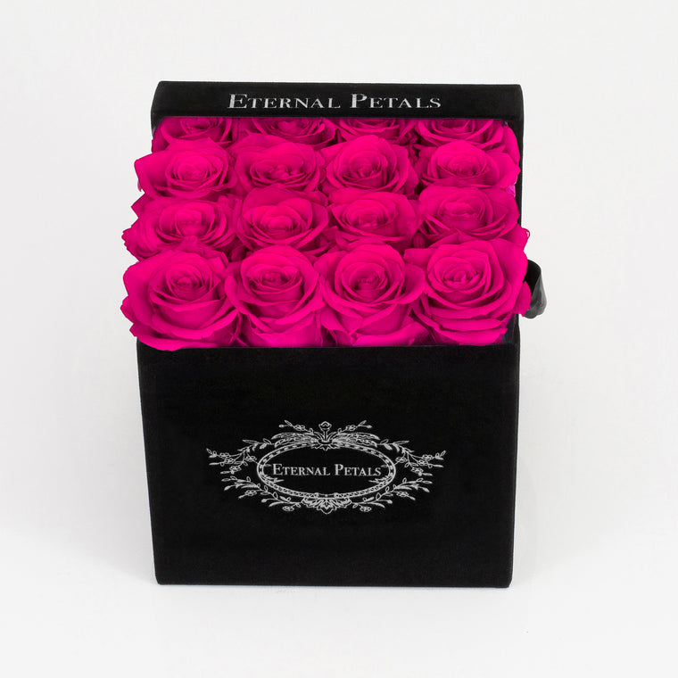 HOT PINK | BLACK FLOWER BOX
