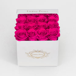 HOT PINK | WHITE FLOWER BOX