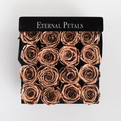 ROSE GOLD | BLACK FLOWER BOX