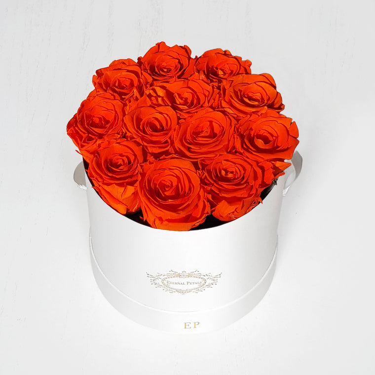 ORANGE FLAME | ROUND GIFT BOX