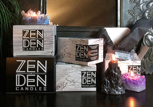 Zen Den Crystal Candles - Wholesale Pricing