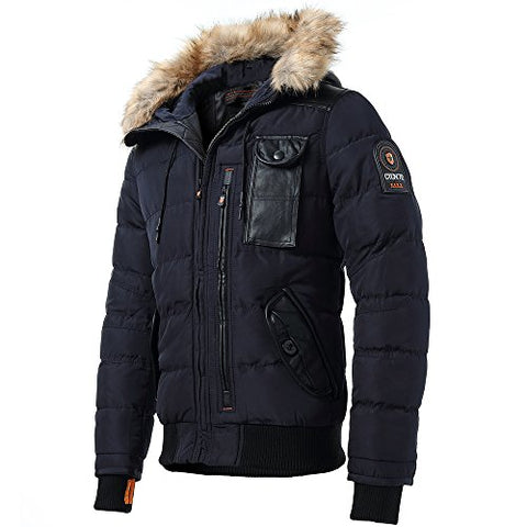 INFLATION Men's Puffer Jacket Hooded Winter Quilted Jacket ... : winter quilted coats - Adamdwight.com