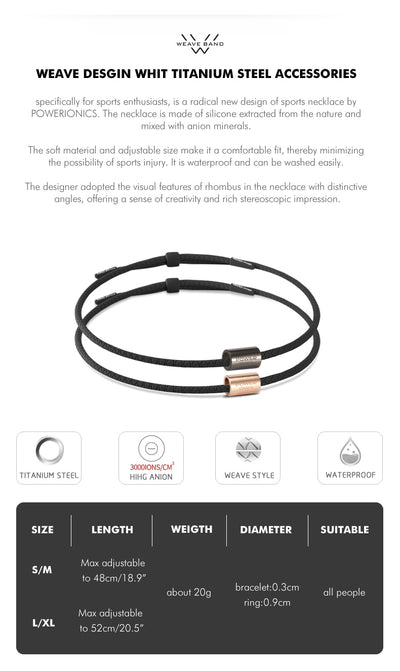 Sports Necklace | Power Ionics 3000 Anions Health Necklace