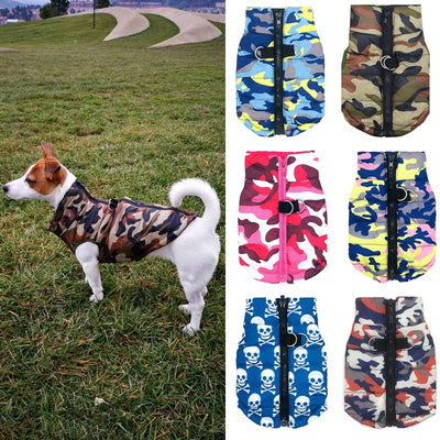 Dog Jacket | Waterproof Camo Pattern Dog Coat