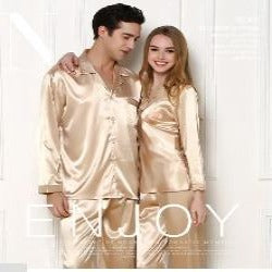 Couple Pajamas | Lovers Matching Silk Casual Night Sleep Wear  (Free Shipping)