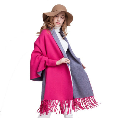 Winter Clothes | Latest Fashion Winter Wear Cashmere Wool Poncho Scarf