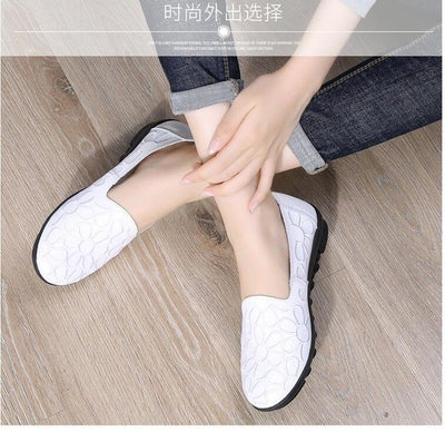 Trendy Split Leather Ladies Loafers (Free Shipping)