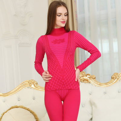 Long Johns | New Fashion Printed Striped Ladies Thermal Underwear Set (Free Shipping)
