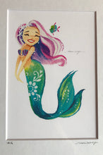 Mermaid Prints by Grace Wolf w/ Matted Frame