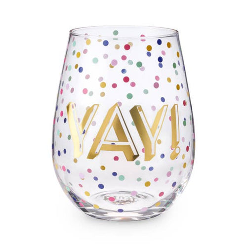 Yay! 20 oz Stemless Wine Glass