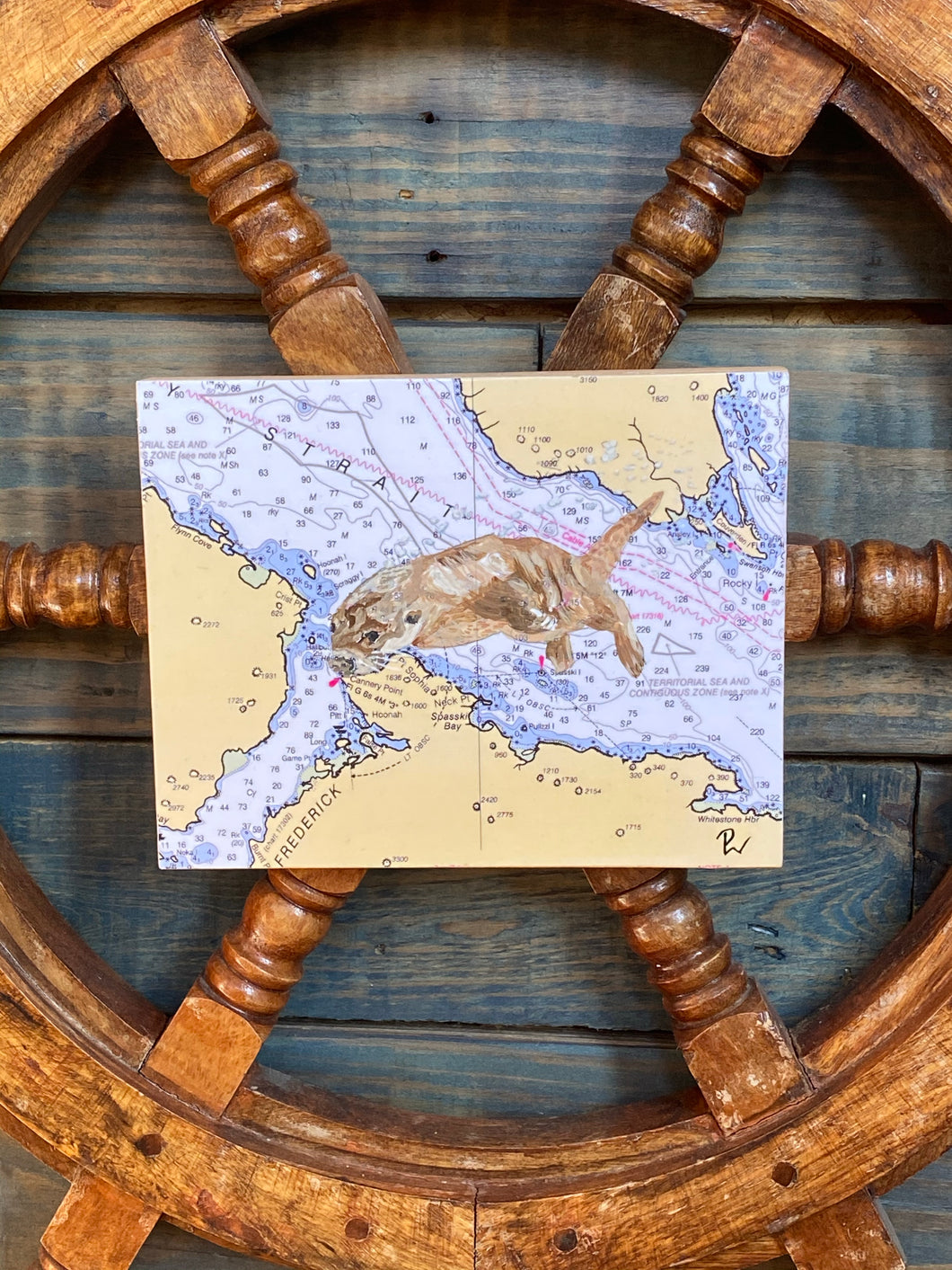 Nautical Chart - Block Art