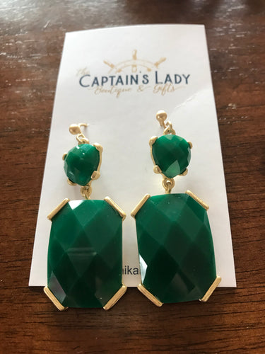 Emerald Party Earrings