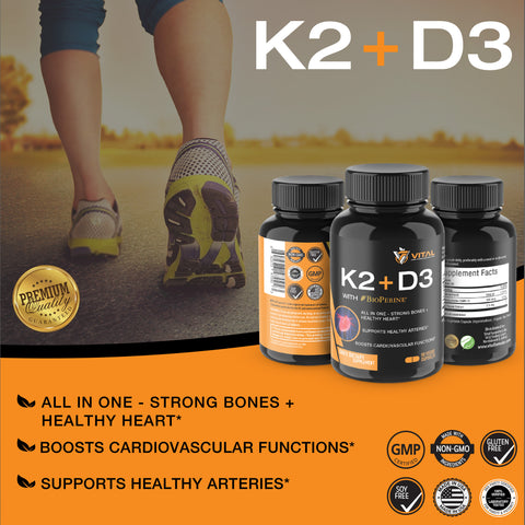 ef1d1fc4961 Vitamin K2 (MK7) with D3 - For Strong Bones   Healthy Heart