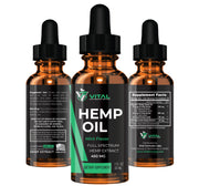 Vital Hemp Oil (450mg) -  Natural Extract to Relief Pain & Anxiety