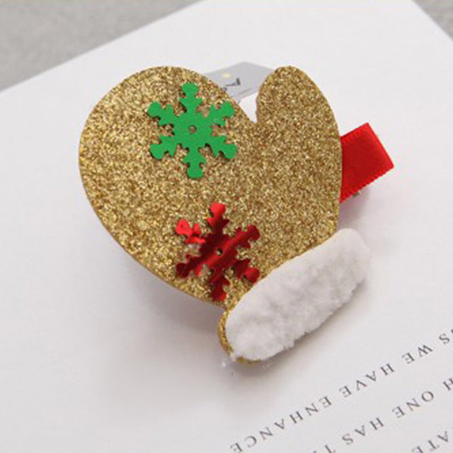 New 1PC Children Cute Christmas Decorate Hairpins Multi-Type Glove Tree Girls Popular Hair Clip Hot Sale