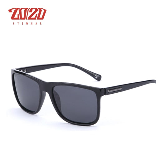 20/20 Brand Polarized sunglasses Men UV400 Classic Male Square Glasses Driving Travel Eyewear Gafas Oculos PL243