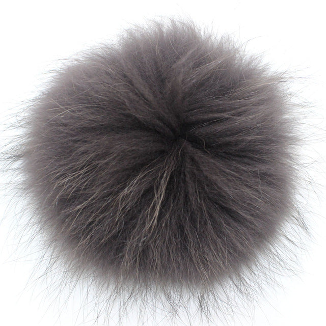15cm Solid&Colorful Raccoon Fur Ball Fur Pom Poms For Women and children Winter Hat And Cap Beanies Fur pompom
