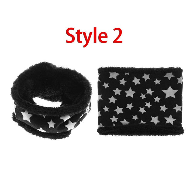 New Autumn Winter Children scarf five stars Print Baby scarf Boys and girls cotton Kids Dot print ring children loop Scarves