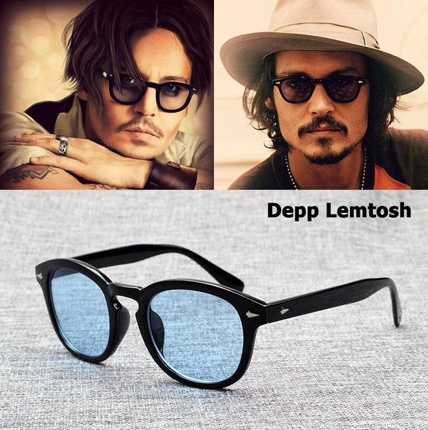JackJad 2018 Fashion Johnny Depp Lemtosh Style Sunglasses Vintage Round Tint Ocean Lens Brand Design Sun Glasses Oculos De Sol