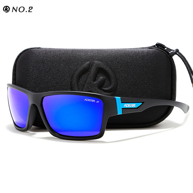 KDEAM Outdoor Polarized Sunglasses Goggles Men Sun Glasses 100%UV Zipper Case Included Sports Eyewear KD510