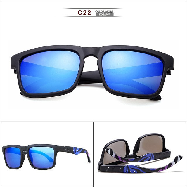Super Deal New Men Sport sunglasses Square Frame  Reflective Coating Sun Glasses Women Brand Design HD lens UV400 KD1123
