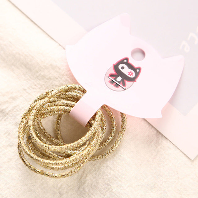 12 Colors 10Pcs/Card 3cm Child Rubber Bands Hair Accessories Wholesale New Fashion Candy Colors Hair Elastics For Girls Kids