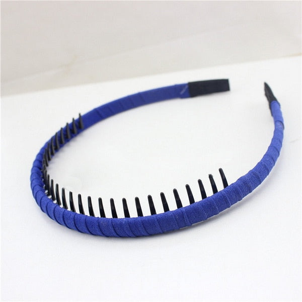 1Pc/lot Korean Version High Quality Cloth Wrap Headband with Teeth Kids Girls Hair Hoop Headdress For DIY Jewelry Accessories